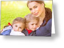 Happy Family Together Greeting Card