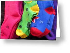 Wear Loud Socks Greeting Card