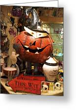 Halloween This Way Greeting Card