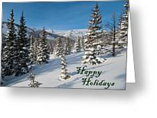 Happy Holidays - Winter Wonderland Greeting Card