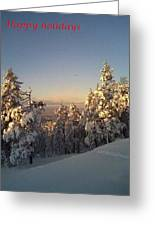 Happy Holidays In Deep Snow  Greeting Card