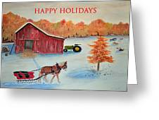 Happy Holidays Card Greeting Card