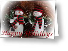 Happy Holidays - Christmas - Snowman Collection - Greeting Cards Greeting Card