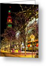Happy Holidays Downtown Denver Co Greeting Card