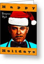 Happy Holidays Gangman Style - John Dillinger 13225 Greeting Card by Wingsdomain Art and Photography