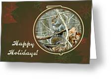 Happy Holidays Greeting Card - Gray Squirrel Greeting Card
