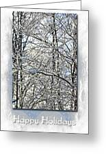 Happy Holidays Greeting - Icicles On Trees Greeting Card