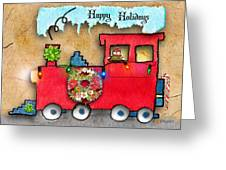 Happy Holidays Train Greeting Card