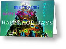 Happy Holidays Word Splash A Greeting Card