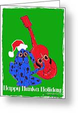 Happy Hunka Holiday Greeting Card