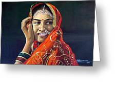 Happy Indian Women Greeting Card