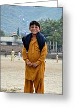 Happy Laughing Pathan Boy In Swat Valley Pakistan Greeting Card