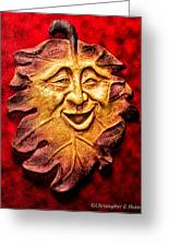 Happy Leaf Greeting Card