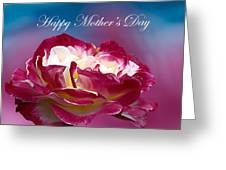 Happy Mother's Day Red Pink White Rose Greeting Card