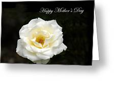 happy Mother's Day White Rose Greeting Card