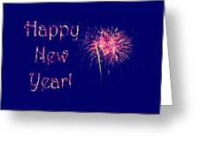 Happy New Year Fireworks Greeting Card by Marianne Campolongo