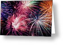 Happy New Year Fireworks Night Scene Greeting Card