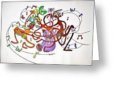 Happy People Trio Greeting Card by Glenn Calloway