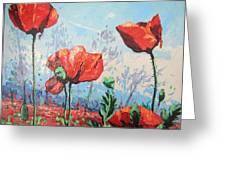 Happy Poppies  Greeting Card by Andrei Attila Mezei