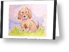 Happy Puppy Smiles Greeting Card