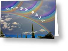 Happy Rainbows Greeting Card