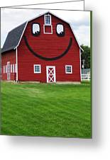 Happy Red Barn Greeting Card