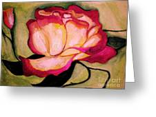 Happy Red Rose Greeting Card by Sidney Holmes