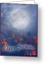 Happy Samhain Moon And Veil  Greeting Card