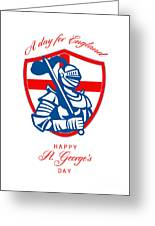Happy St George A Day For England Greeting Card Greeting Card by Aloysius Patrimonio