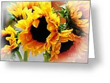Happy Sunflowers Greeting Card