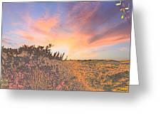 Happy Sunset Greeting Card