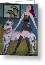 Happy Walk By Jasna Gopic Greeting Card