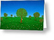 Happy Walking Tree Greeting Card