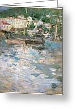 Harbor At Nice Greeting Card