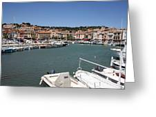 Harbor Cassis Greeting Card