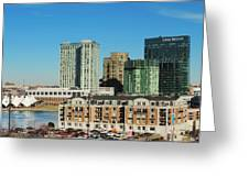 Harbor East Complex In Baltimore From Federal Hill Greeting Card