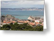 Harbor Entrance Marseille Greeting Card