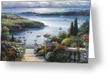 Harbor Garden Greeting Card by Ghambaro