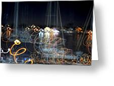 Harbor Ghosts Greeting Card