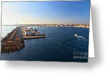 harbor in Porto Torres Greeting Card