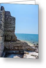 Harbor Island Ruins 1 Greeting Card