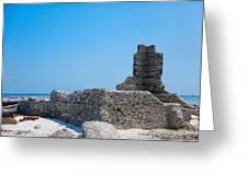 Harbor Island Ruins Greeting Card