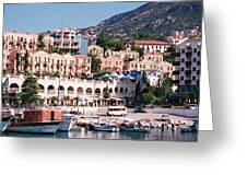 Harbor, Kalkan, Turkey Greeting Card
