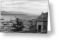 Harbor Lookout - Monte Carlo Greeting Card