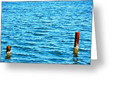 Harbor Markers Greeting Card
