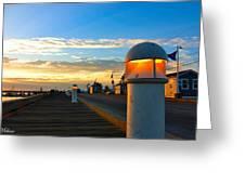 Harbor Pathway Greeting Card