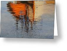 Harbor Reflecting Greeting Card