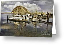 Harbor Reflection Impasto Greeting Card