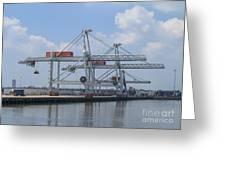 Harbor Rotterdam Greeting Card