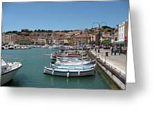 Harbor Scene Cassis  Greeting Card